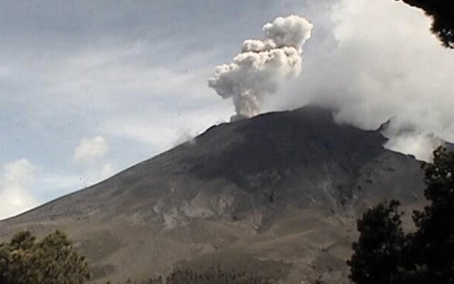 Volcán Popocatépetl continúa con exhalaciones - Foto de Cenapred