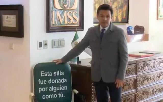 Zoé Robledo invita a participar en campaña de donación de sillas-cama - Captura de pantalla
