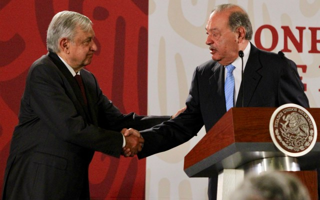 López Obrador se reúne con Slim en Palacio Nacional - Carlos Slim y Andrés Manuel López Obrador