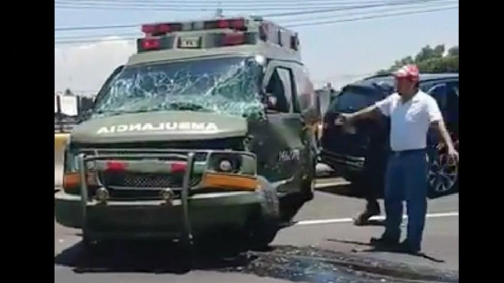 Accidentes - Accidentes e incidentes de elementos del Ejército Mexicano  Noticias,comentarios,fotos,videos. - Página 4 Accidente-ambulancia