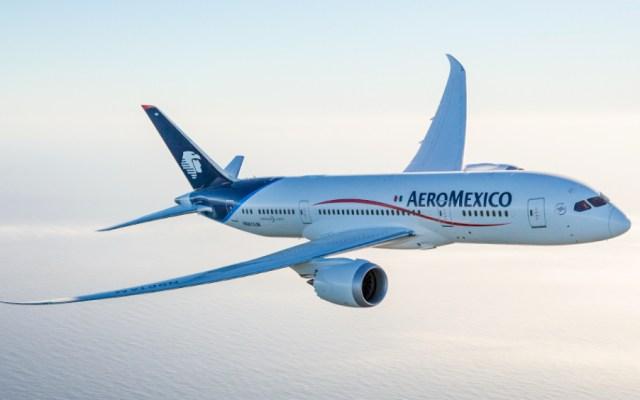 Aeroméxico hará ajuste en vuelos desde el 1 de junio - En la imagen un avión de Aeroméxico. Foto de Aeroméxico