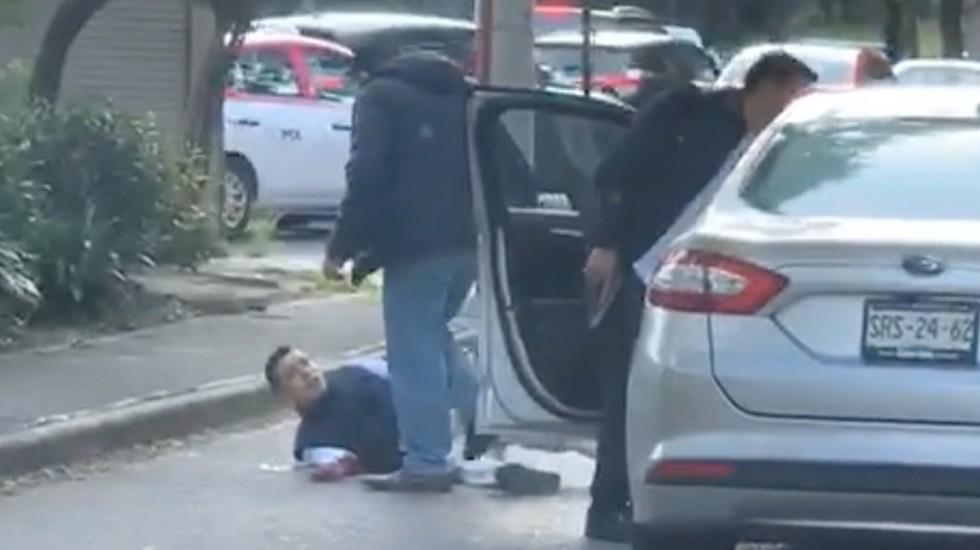 #Video Escoltas lesionan a presunto asaltante en Bosques de las Lomas - agresor