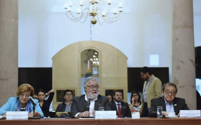 Expertos del GIEI se reúnen con Encinas en Segob por caso Ayotzinapa - Foto de Twitter Alejandro Encinas