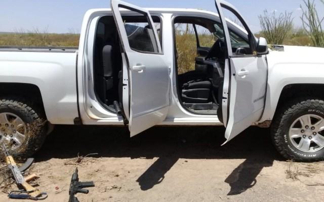 Ejército asegura vehículos y armas en operativo en Sonora - Foto de @MrElDiablo8