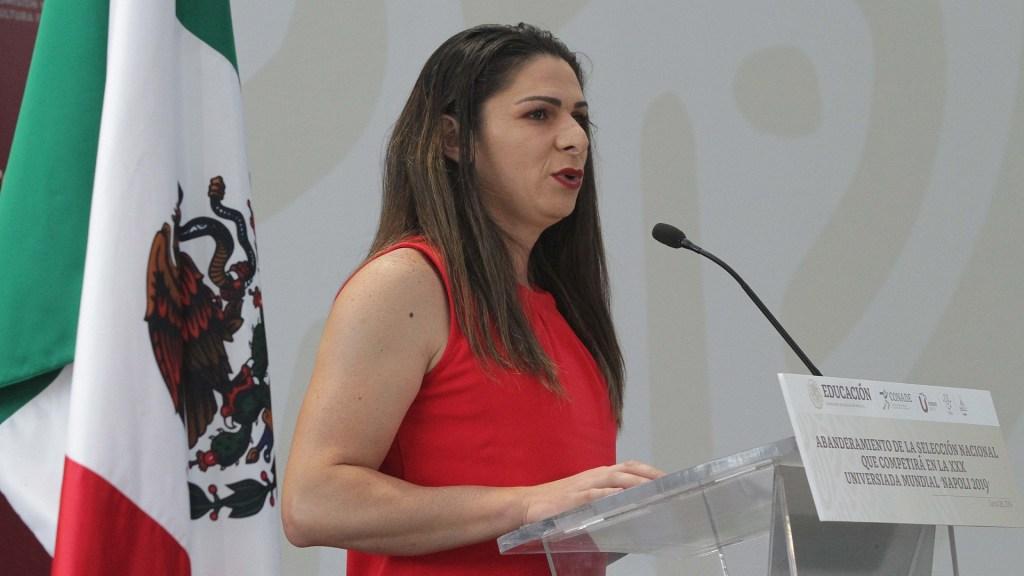 Detienen a empresarios que acusaron a Ana Guevara de extorsión - Ana Gabriela Guevara, titular de la Conade. Foto de Notimex