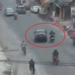 #Video Conductor avienta a motociclista y huye en Edomex
