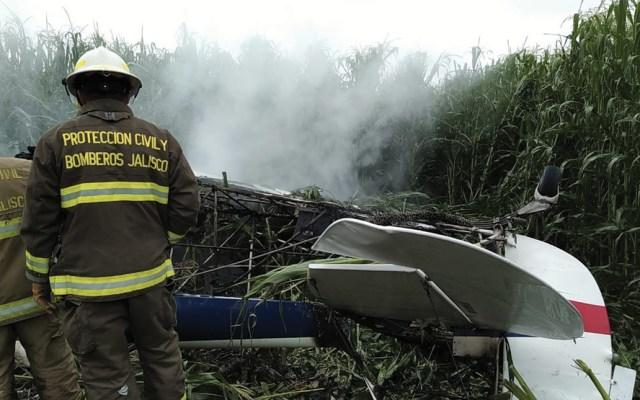 Caída de aeronave deja un muerto en Jalisco - Foto de @PCJalisco