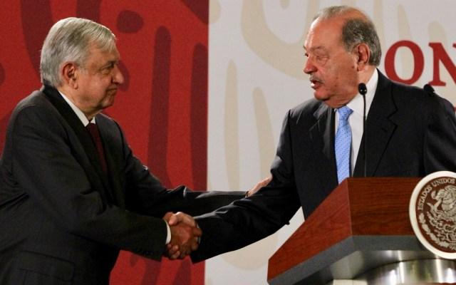 Slim niega frente al presidente corrupción en contratos de gasoductos - Carlos Slim