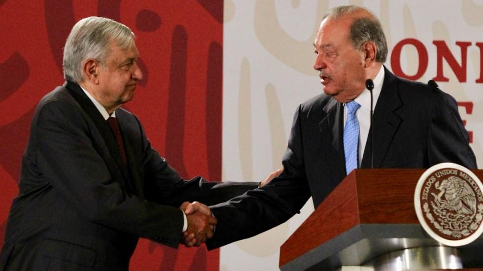 AMLO revela que supervisó junto a Carlos Slim tramo del Tren Maya; sortearon una tormenta, asegura - Carlos Slim AMLO