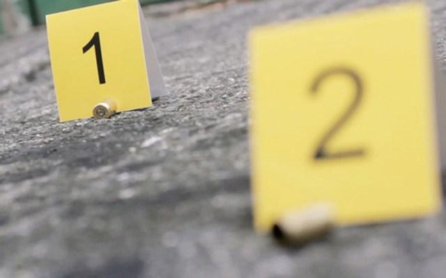 Asesinan a joven de 26 años en la colonia Peñón de los Baños - Casquillos percutidos