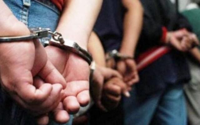Detienen a cuatro presuntos narcomenudistas en la Cuauhtémoc - Detenidos. Imagen ilustrativa