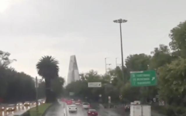 Encharcamientos y caída de árboles por lluvias en la Ciudad de México - Captura de pantalla