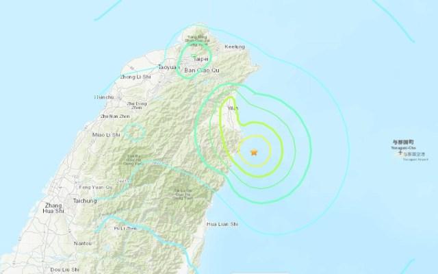 Sismo de magnitud 5.9 deja una mujer muerta en Taiwán - Epicentro y magnitud de sismo en Taiwán. Foto de USGS