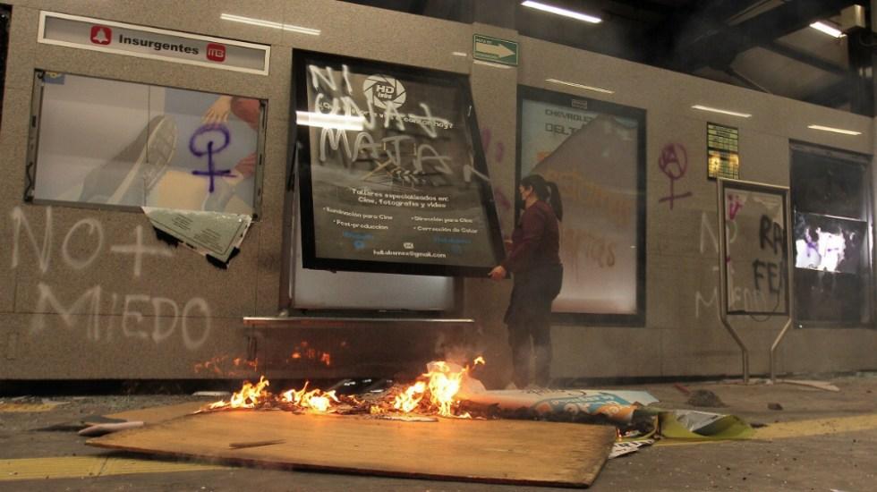 Ascienden a más de un millón de pesos daños al Metrobús durante marcha - Foto de Notimex