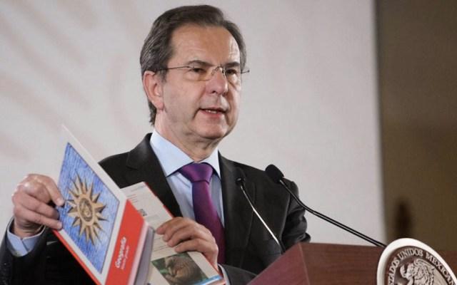Distribución de libros de texto tiene un avance del 80 por ciento: SEP - Esteban Moctezuma Barragán SEP 150819