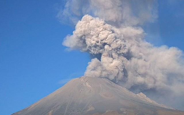 Explosión del Popocatépetl deja columna de ceniza de dos kilómetros - Explosión del Popocatépetl deja columna de ceniza