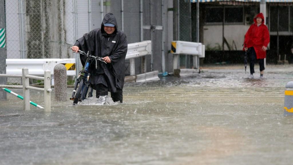 Emiten alerta máxima por fuertes lluvias en Japón - Fuertes lluvias en Japón. Foto de EFE