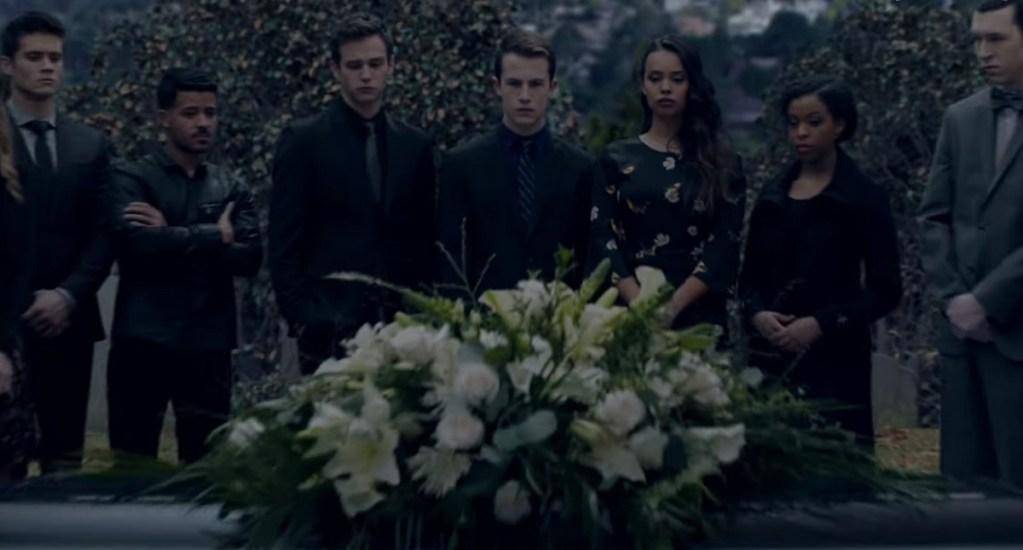 #Video Anuncian estreno de la tercera temporada de '13 Reasons Why' - Funeral de Bryce en 13 Reasons Why 3. Captura de pantalla