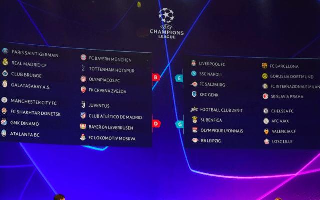 Definidos los grupos de la Champions League - Foto de UEFA