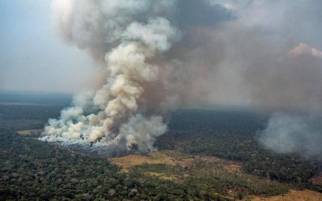 Calentamiento global se agudiza por incendios en el Amazonas - Foto puesta a disposición por Greenpeace Brasil muestra el humo saliendo del fuego en la selva amazónica en Novo Progresso en el estado de Para, Brasil. Foto de EFE/EPA/Victor Moriyama / Greenpeace Brazil.