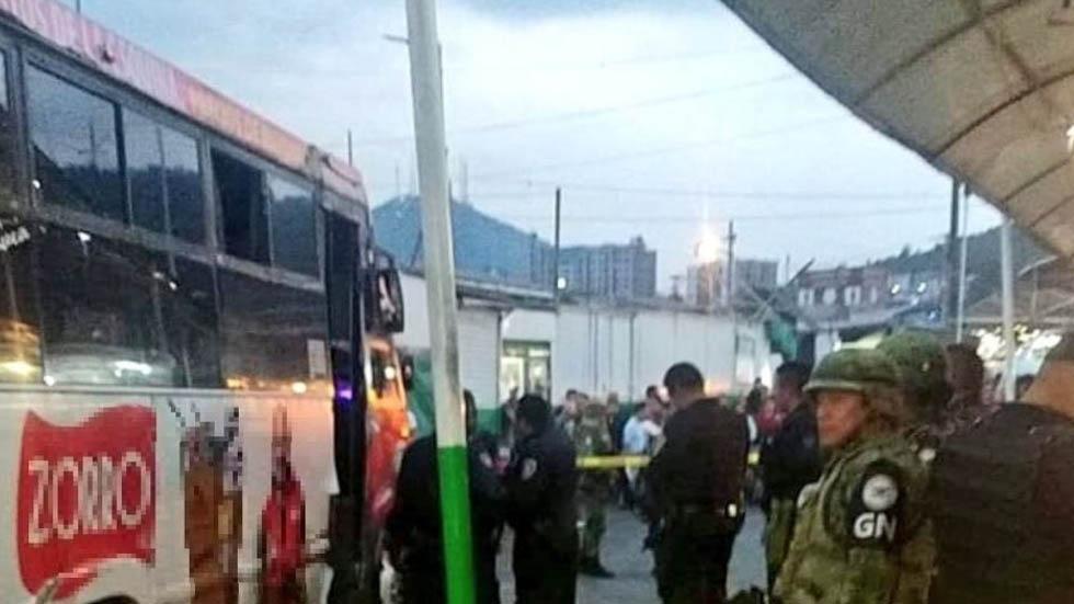 Indios Verdes metro balacera disparos