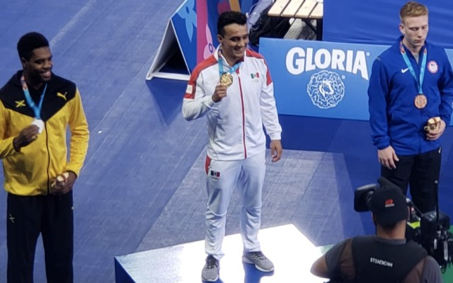Clavadista Juan Celaya da a México oro 16 en Lima 2019 - Foto de @CONADE