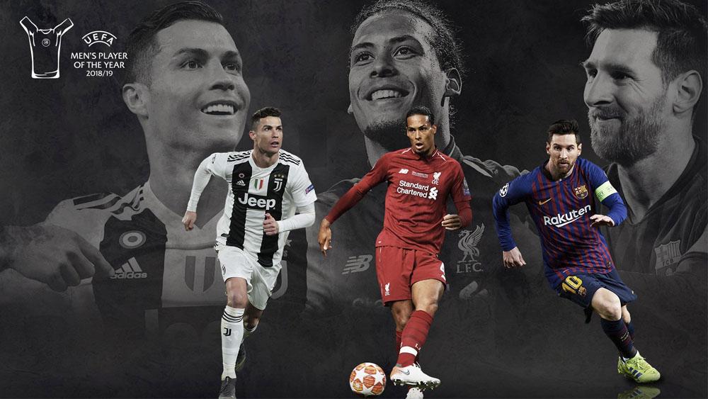 Van Dijk se sienta en la mesa de Messi y Cristiano Ronaldo