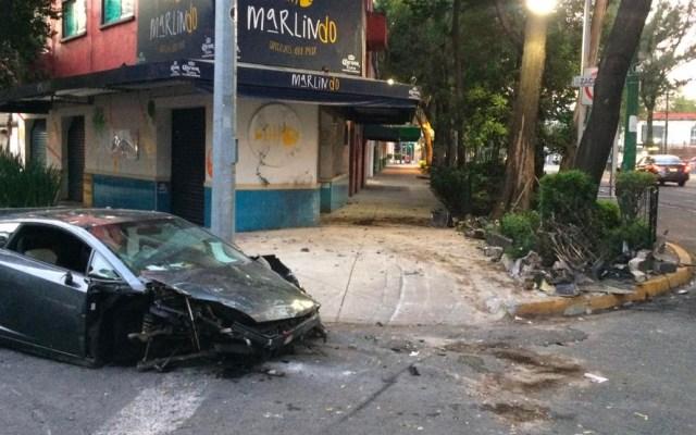 Destroza Lamborghini en la Roma y se da a la fuga - Lamborghini