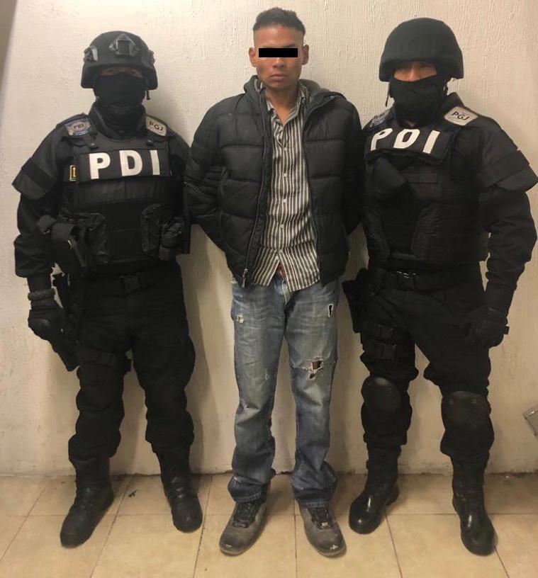 Luis 'N', en custodia de elementos de la Policía de Investigación.–
