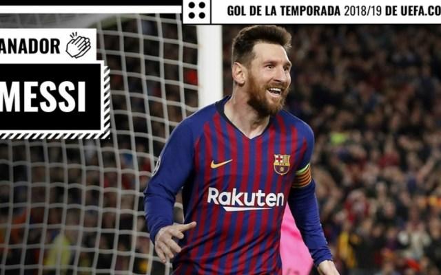 Messi gana votación del Gol de la Temporada de la UEFA - Foto de UEFA