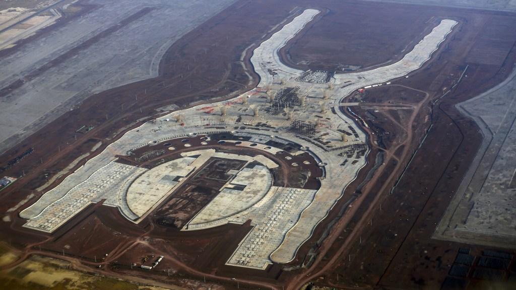 Vista del Nuevo Aeropuerto Internacional de la Ciudad de México en Texcoco, Estado de México. Texcoco, Estado de México, 16 de abril de 2018. Foto de Notimex-Acervo NTX.