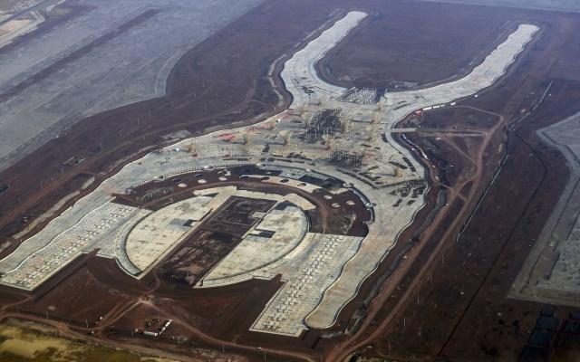 Suspenden proceso de venta de 49 mil toneladas de acero del NAIM - Vista del Nuevo Aeropuerto Internacional de la Ciudad de México en Texcoco, Estado de México. Texcoco, Estado de México, 16 de abril de 2018. Foto de Notimex-Acervo NTX.