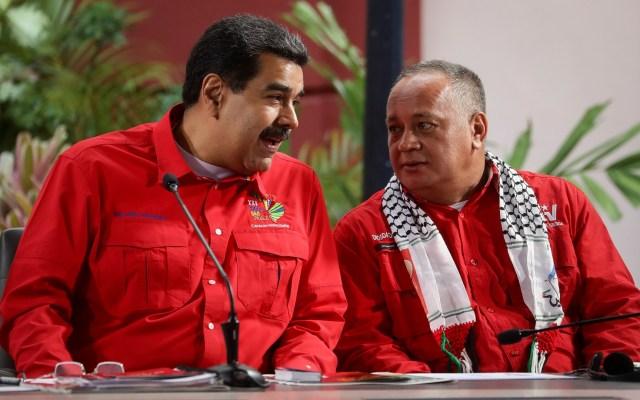 Estados Unidos presenta cargos contra Nicolás Maduro por narcotráfico - Nicolás Maduro con Diosdado Cabello. Foto de EFE