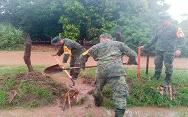 Ejército activa Plan DN-III-E por lluvias en cinco estados - plan d-iii-e culiacán lluvias sedena