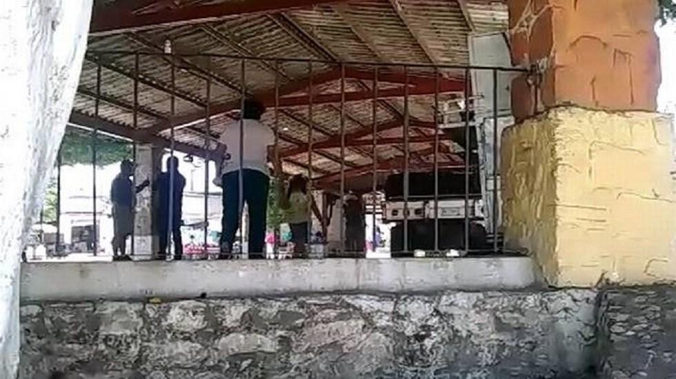 Roban dinero de programa Bienestar para adultos mayores en Morelos - Sitio donde se entregaba el dinero del Programa para Personas Adultas Mayores. Foto de El Sol de Cuautla