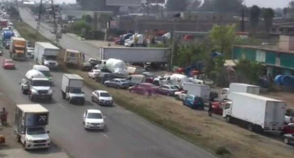 Muere conductor de pipa de gas al chocar en la Texcoco-Lechería - texcoco-lechería
