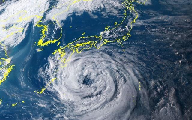 Japón en alerta por llegada del tifón Krosa - Tifón Krosa. Foto de Kyodo