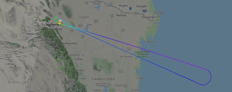 Viva Aerobús Vuelo trayectoria Cancún Monterrey