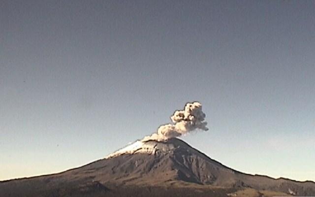 Popocatépetl continúa actividad explosiva, registra 310 exhalaciones - Volcán Popocatépetl a las 09 h del 13 de agosto de 2019. Foto de Cenapred