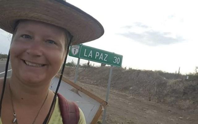 Activista alemana cruza península de Baja California contra el abuso sexual - Foto de Meganoticias