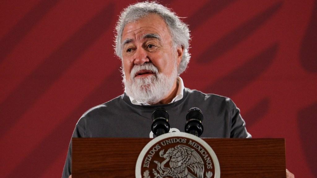 Murillo Karam comparecerá por caso Ayotzinapa, anuncia Encinas - Alejandro Encinas, Subsecretario de Derechos Humanos, al presentar informe sobre el trabajo de investigación del caso de los 43 estudiantes de Ayotzinapa. Foto de Notimex-Guillermo Granados.