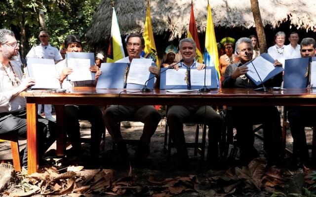 Líderes sudamericanos firman pacto para preservar la Amazonia - Amazonia pacto de Leticia