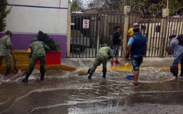 Aplican Plan DN-III-E en Tecámac por fuertes lluvias - Aplicación del Plan DN-III-E en Tecámac. Foto de @SEDENAmx