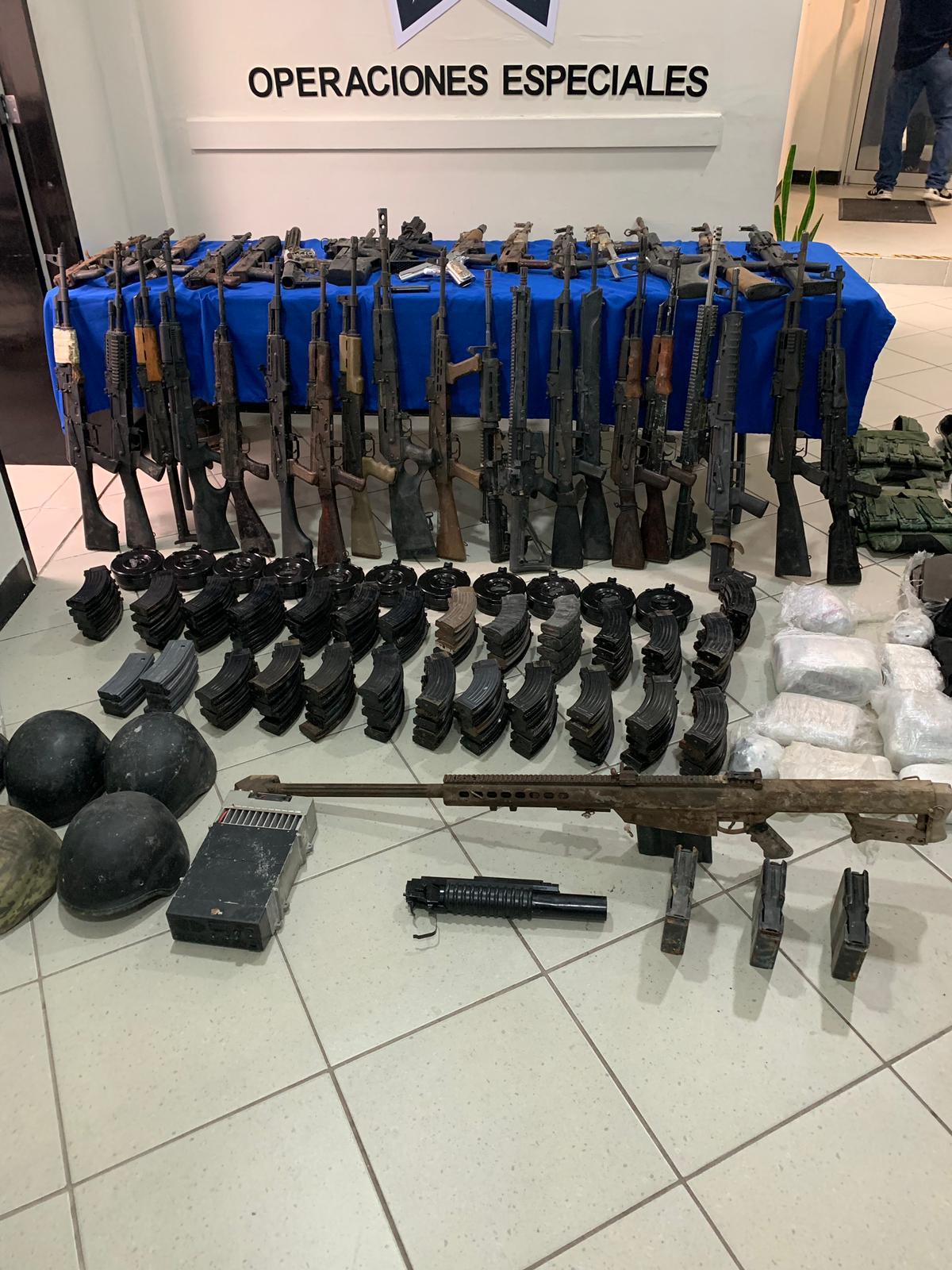 Arsenal armas decomisado Reynosa 3