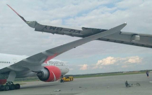 Chocan dos aviones en aeropuerto de Moscú - aviones rusia Moscú