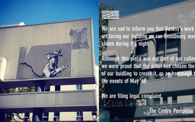 Roban obra de Banksy en París - Banksy París