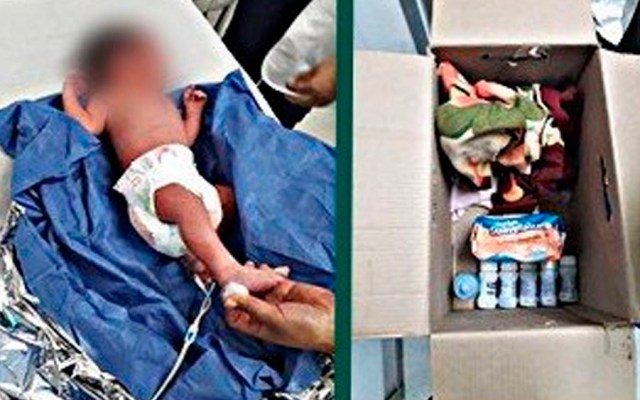 Abandonan a recién nacido afuera de escuela en Coyoacán - bebe abandonado coyoacán