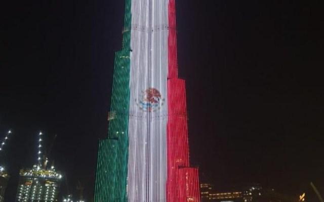 Burj Khalifa se ilumina con los colores de México - Burj Khalifa colores México Independencia