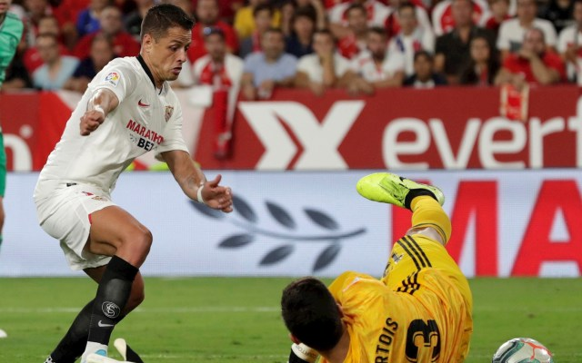 #Video Anulan gol del empate de 'Chicharito' ante Real Madrid - Chicharito Javier Hernández gol Sevilla Real Madrid