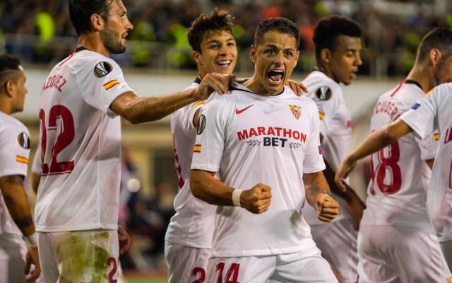 #Video Chicharito Hernández anota en la Europa League - Foto de Twitter/@gomez_sergi